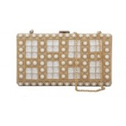 Kleio Party White Clutch