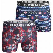 Björn Borg Shorts 2er-Pack Rot Blau - Rot XXL
