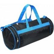 SAISAN (Expandable) Round Large Shouler Tote Gym Traveller Duffle Bag-Unisex Size :19inchX8inch (Blue) Travel Duffel Bag(Blue)