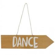Orange85 Houten bord met tekst Dance