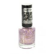 Rimmel London Glitter Medium Coverage Nail Polish 8Ml Per Donna 010 Sparkle Every Day (Cosmetic)