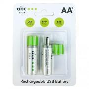 Baterie Reincarcabila Cu USB Tip AA (R6) ABC TECH