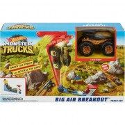 Set de joaca Mattel Hot Wheels Monster Truck cu Pista Big Air Breakout