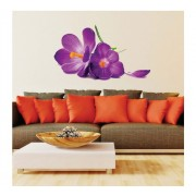 Sticker perete Romantic Big Purple Flower