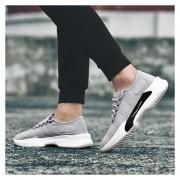 Hombres Zapatos Deportivos Transpirables Para Correr - Gris