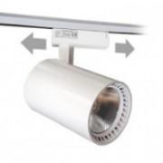 Sínes LED lámpa , track light , 1 fázisú , 2 pólusú , 30 Watt , meleg fehér , fehér , LB