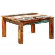 vidaXL Stolić za kavu od iskrčenog drveta kvadratni antikni stil