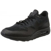 "Nike Mens Air Max 1 Ultra Flyknit ""Triple Black"" Black/Anthracite Woven Size 11"