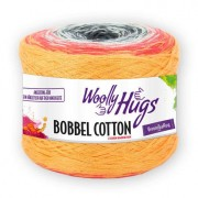 Woolly Hugs Bobbel Cotton von Woolly Hugs, Orange/Rot/Weiß/Anthrazit