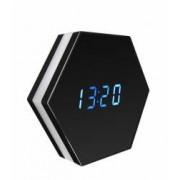 Ceas birou hexagon cu camera ascunsa spion Full HD 1080p iP WiFi cu senzor de miscare night vision