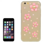 iPhone 6(S) (4.7 inch) TPU Cover, hoesje, case 3D flowers