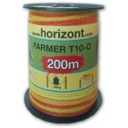 FARMER T10-O, 10mm, żółto-pomarańcz. 200m