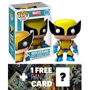 Wolverine: ~3.75' Funko POP! x Marvel Universe Vinyl Bobble-Head Figure + 1 FREE Official Marvel Trading Card...