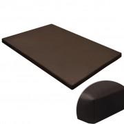 vidaXL Hundmatta platt fyrkantig brun strl. M