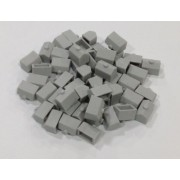 Plastic Houses: Grey Color Monopoly Replacement House (Colored Miniature Town & City Buildings, Board Game Playing Pieces)