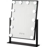 Bright Beauty Vanity make up spiegel met verlichting - zwart - dimbaar met drie lichtstanden