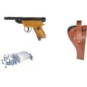Prijam Air Gun Plx-007 Model With Metal Body For Target Practice Combo Offer 300 Pellets With Cover Air Gun