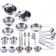 25Pcs Juguetes De Utensilios De Cocina 360DSC - Plata
