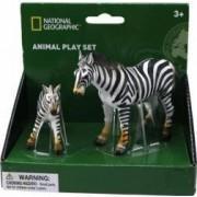 Set 2 figurine National Geographic Zebra