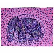 ER Tapiz De Elefantes Impreso En Color 130cmx150cm 153cmx203cm Boho Alfombra De Pared L-Elefante Rosa Morado
