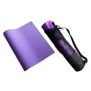 Fialová pěnová karimatka s obalem na cvičení - délka 172 cm, šířka 60 cm a výška 0,4 cm