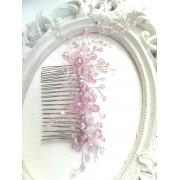 Кристална украса за коса с кристали Сваровски за сватба и бал в светло лилаво Tender Violets by Rosie