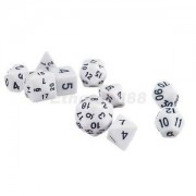 Alcoa Prime NEW 10pcs/Set TRPG Games Dungeons & Dragons D4-D30 Multi-Sided Dice White
