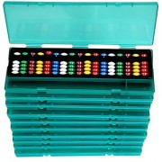 Aadithya Corp -17 ROD MultiColour With Pencil Box Abacus kit - Set of 5