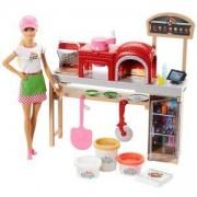 Игрален комплект с кукла Barbie - Приготвяне на пица, 1710084