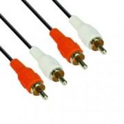 Кабел VCom CV022, 2x RCA Chinch(м) към 2x RCA Chinch(м), 5m, черен