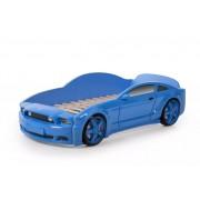 Детско легло тип кола Мустанг 3D в син цвят