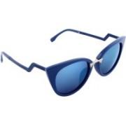 Olvin Cat-eye Sunglasses(Blue)