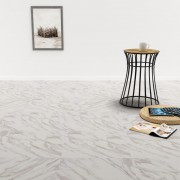 vidaXL Самозалепващи подови дъски от PVC, 5,11 м², бял мрамор