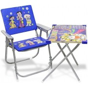 T.R TREDERS Dinning Table Chair Set for Kids (Blue)