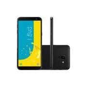 Smartphone Samsung Galaxy J6 Preto 64GB Câmera 13MP 4G TV SM-J600GZKVZTO