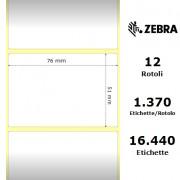 Etichette Zebra - Z-Ultimate 3000T White, formato 76 x 51