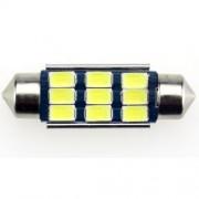 Autós led Sofita Canbus rendszám világítás, 9 led, 39 mm, 200 Lumen, 5730 chip, 2,5W, hideg fehér. Life Light Led 2 év garancia!