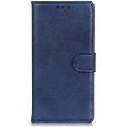 Samsung Galaxy A10 Matte Portemonnee Hoesje Blauw