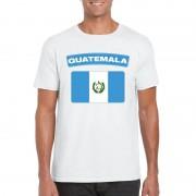 Bellatio Decorations Guatemalaanse vlag shirt wit heren