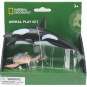 Set 2 figurine National Geographic Balena si Broasca Testoasa