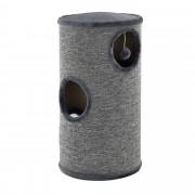 [en.casa]® Mueble para gatos - Rascador barril para gatos - gris - 100 x 40 x 40cm