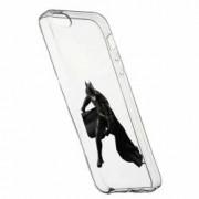 Husa Silicon Transparent Slim Batman 132 Apple iPhone 5 5S SE