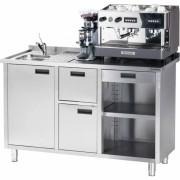 Masa inox espressor cu chiuveta