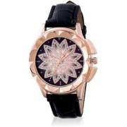 New Brand Mxre Black Diamound Flower Designing Stylist Looking Analog Watch For Women Girls