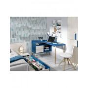 DESKandSIT Mesa mesas de estudio de diseño completa con mueble y buc a la derecha mju2023001