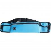 27.5CM WP1 Resistente A La Intemperie Cintura Fanny Pack Bolsa De La Cadera Bolsa Para El Hombre Mujer Deportes Al Aire Libre Viajes Correr Senderismo Para Teléfonos Celulares Menores De 6.3 Pulgadas (luz Azul)