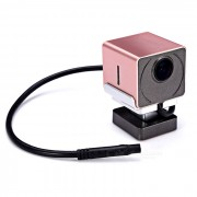 A-05 oculta HD DVR Noche Vision 1080P Wi-Fi Car - rosa