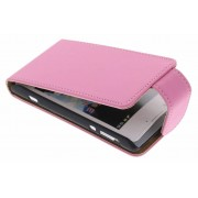 Roze classic flipcase voor de Sony Xperia E