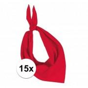 Kariban 15 stuks rood hals zakdoeken Bandana style