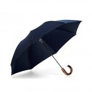 Compact Umbrella Wooden Handle Navy